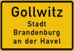 Gollwitz - Ortsschild